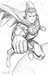 dibujos de superman faciles