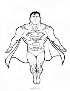 dibujos de superman para pintar