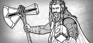 dibujos de thor endgame