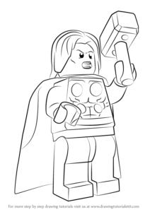 dibujos de thor para niños