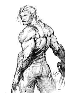 dibujos de wolverine a para dibujar