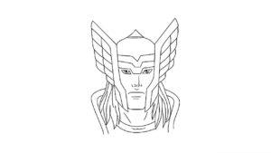 dibujos del hacha de thor
