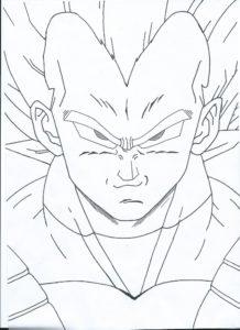 dibujos para colorear de goku y vegeta