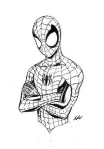 el hombre araña dibujo