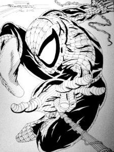 el hombre araña para colorear