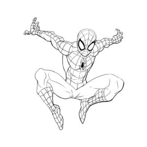 hombre araña dibujo