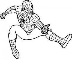 hombre araña para dibujar