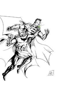 imagen de superman para colorear