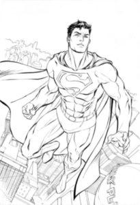 imagen de superman para dibujar