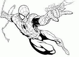 imagenes de spiderman para colorear