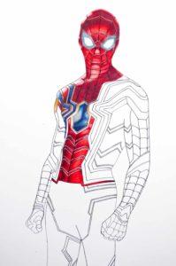 imagenes del hombre araña para colorear