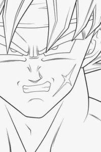 la cara de goku