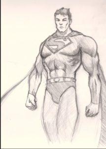 logo superman para colorear