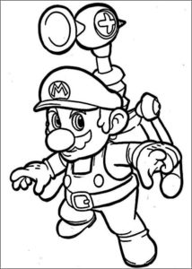 mario bros dibujo a color