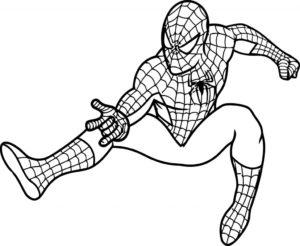 spiderman dibujo facil