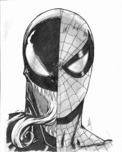 spiderman para pintar