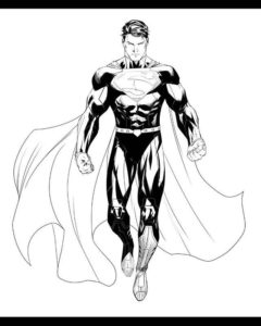 superman dibujo para colorear