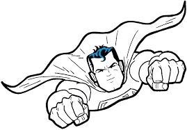superman logo para colorear