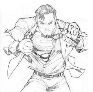 superman para dibujar facil