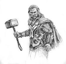 thor infinity war dibujo