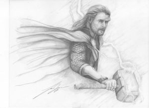thor stormbreaker dibujo